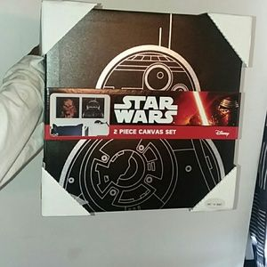 Star Wars brand new canvas art comes with two set